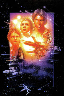 Star Wars Poster Digital Art - Star Wars Episode Iv - A New Hope 1977 by Unknow