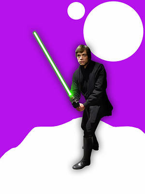 Star Wars Luke Skywalker Collection Art Print