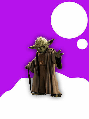 Star Wars Yoda Collection Art Print by Marvin Blaine