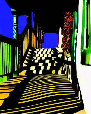 Streets Of Taos Art Print