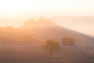 Photograph - Sunrise At Countryside Landscape by Nickolay Khoroshkov