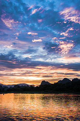 Photograph - .sunrise Scenery In The Morning by Carl Ning
