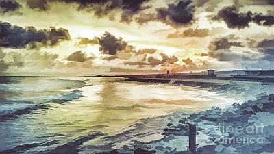 #9 Sunset On Mia Art Print by Lemmi Pfeiffer