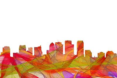 Digital Art - Tampa Florida Skyline by Marlene Watson