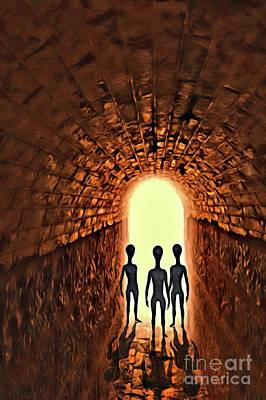 Science Fiction Royalty-Free and Rights-Managed Images - The Alien Conspiracy by Raphael Terra
