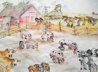 Painting - The Art Of Farming Album  by Debbi Saccomanno Chan