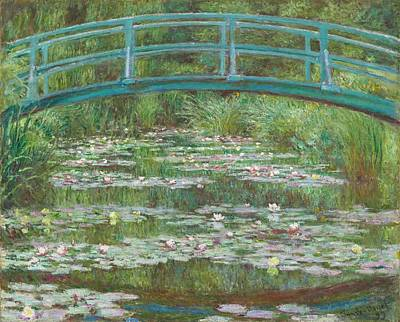 Lily Painting - The Japanese Footbridge by Claude Monet