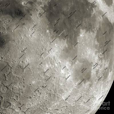 Surface Feature Photograph - The Moon From Space, Artwork by Detlev van Ravenswaay