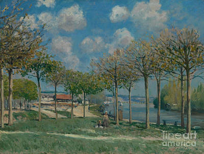 The Seine At Bougival Art Print