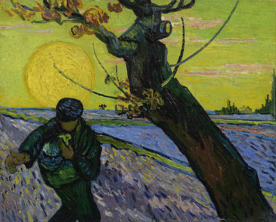 Farmland Painting - The Sower by Vincent van Gogh