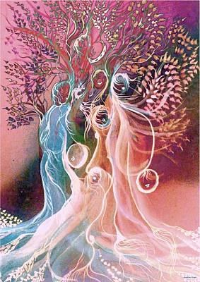 Spirituality Digital Art - The Voices by Sandrine Kespi