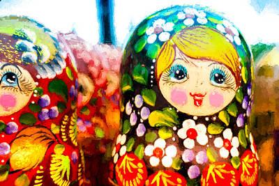 Photograph - Vibrant Russian Matrushka Doll by John Williams