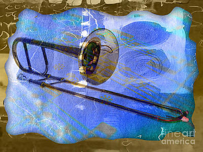 Trombone Collection Art Print by Marvin Blaine
