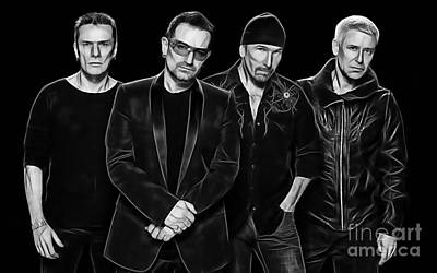 U2 Collection Art Print by Marvin Blaine