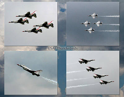 Photograph - Usaf Thunderbirds by John Freidenberg