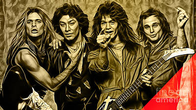 Van Halen Collection Art Print by Marvin Blaine