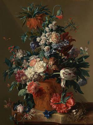 Painting - Vase Of Flowers by Jan van Huysum