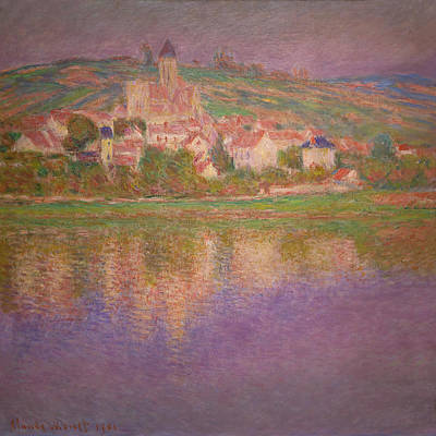 French Village Painting - Vetheuil  by Claude Monet