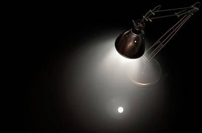 Lamp Worked Digital Art - Vintage Copper Desk Lamp by Allan Swart