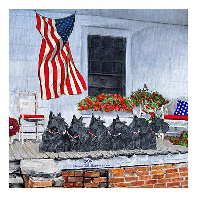 Painting - Waiting For The Big Parade by Ann Kallal