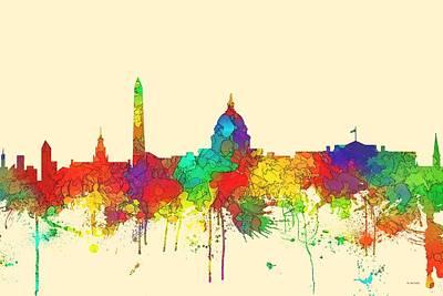 Washington Dc Skyline Art Print by Marlene Watson
