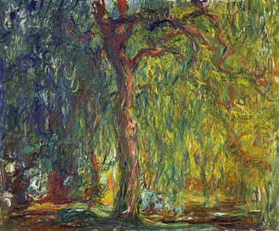 Weeping Painting - Weeping Willow by Claude Monet