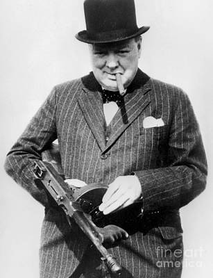 Bow Tie Photograph - Winston Churchill by English School