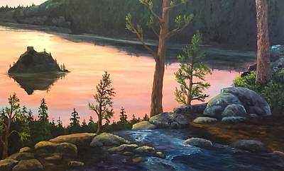 Painting - Wip Emerald Bay by Darice Machel McGuire