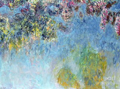 Monet Painting -  Wisteria by Claude Monet