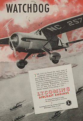 Wings Drawing - World War II Advertisement by American School