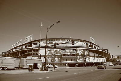Wrigley Field - Chicago Cubs Art Print by Frank Romeo