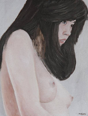 Painting - Young Woman by Masami Iida