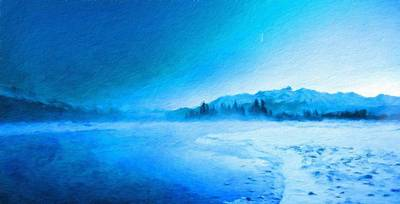 Ocean Painting - Landscape Nature Drawing by Margaret J Rocha