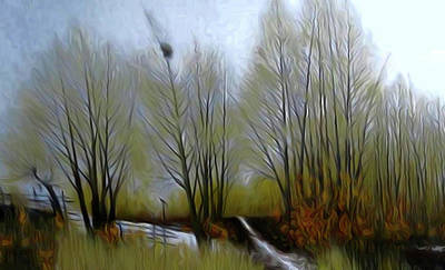 Sky Painting - Nature Landscape Light by Edna Wallen