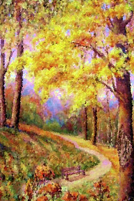 Clouds Painting - Nature Landscape Painted by Edna Wallen