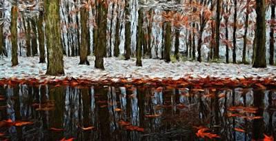 Landscapes Painting - Nature Oil Canvas Landscape by Margaret J Rocha
