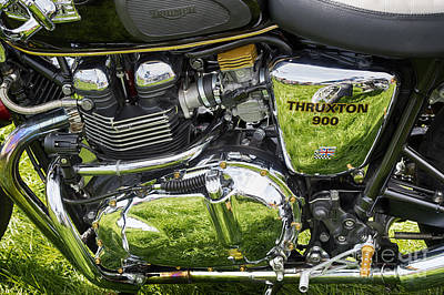 Photograph - 900 Thruxton Engine by Tim Gainey