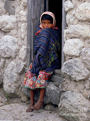 Photograph - 90110 Tarahumara Indian Child by Erik Poppke