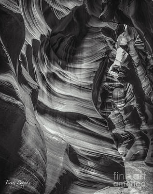 Photograph - 90116 Antelope Canyon Bw by Erik Poppke