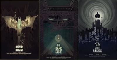 90215 Batman Batman Begins The Dark Knight The Dark Knight Rises Christopher Nolan Dc Comics Joker Bane Catwoman Art Print