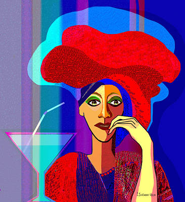Flashy Painting - 909 -   Summer   Cocktail by Irmgard Schoendorf Welch