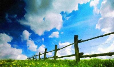 Idyllic Painting - Nature Landscape Oil by Margaret J Rocha