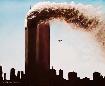 Terrorist Painting - 911 by Carla Keck