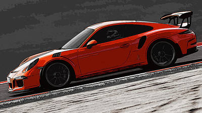 Painting - 911 Gt3 Rs - Porsche by Andrea Mazzocchetti