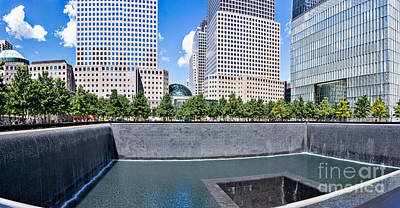 Photograph - 911 Memorial - Pano View by John Waclo