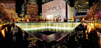 Photograph - 911 Memorial Pool by M G Whittingham