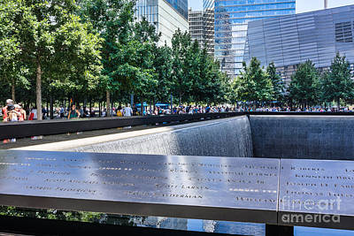 Photograph - 911 Memorial - Remembering by John Waclo