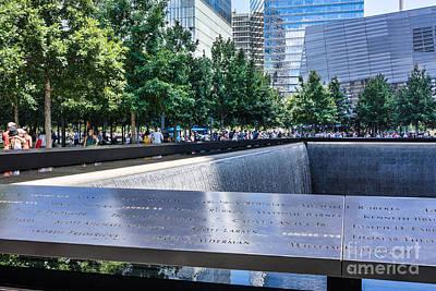 Photograph - 911 Memorial - Remembering by John Waclo