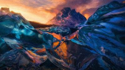 Forest Digital Art - Landscape Oil Painting For Sale by Landscape Art