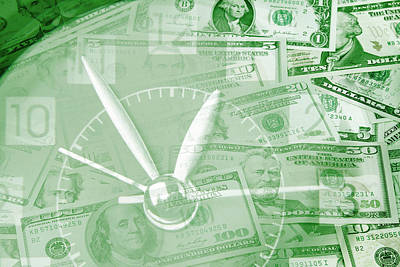 Metaphor Digital Art - Time Is Money  by Les Cunliffe